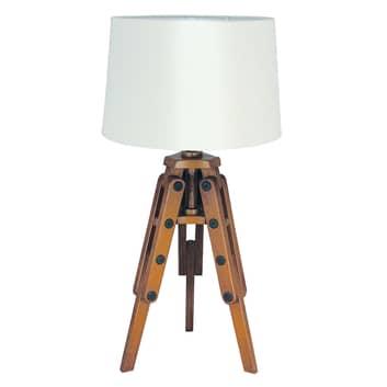 Holz-Tischleuchte Marvin in Stativform