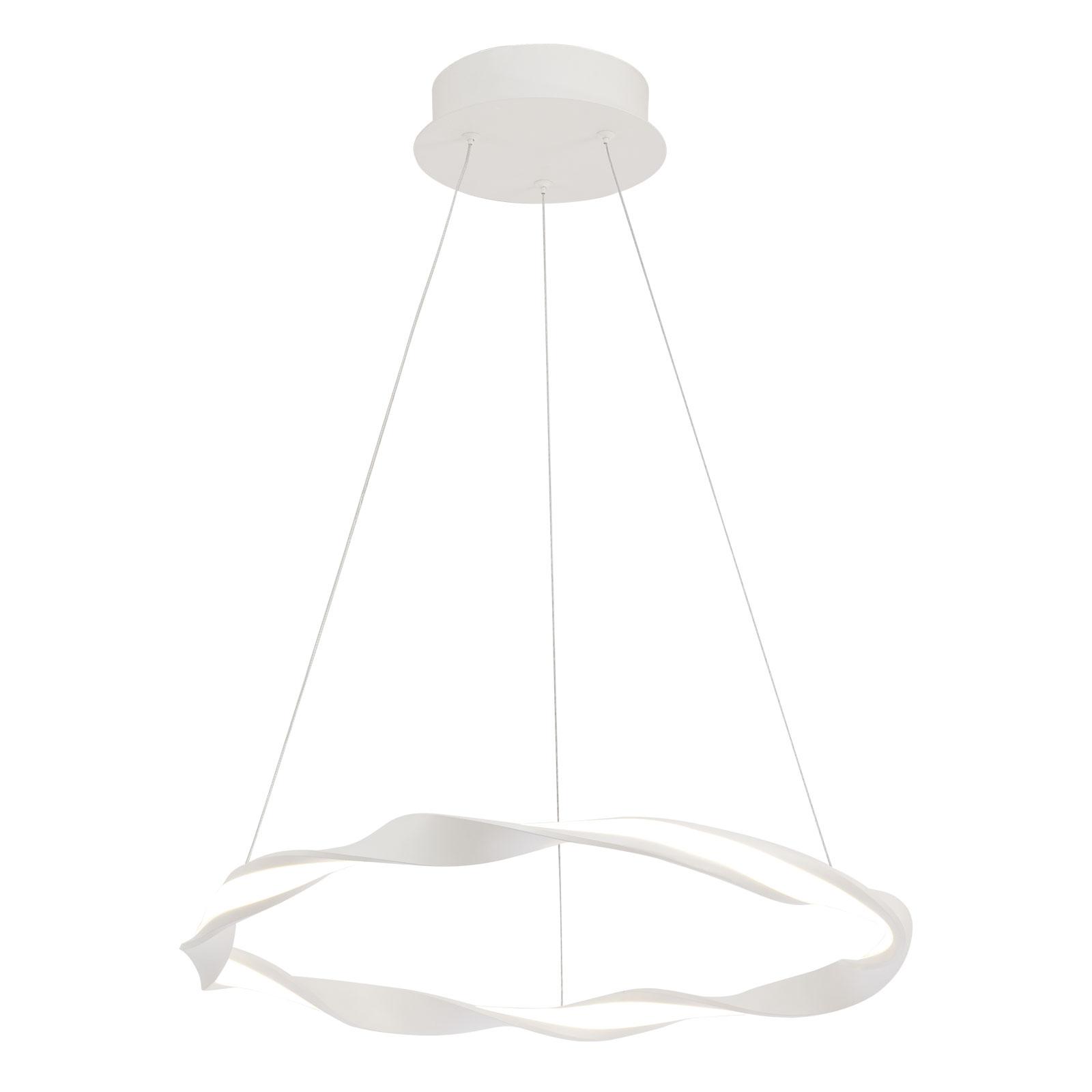 Lampa wisząca LED Madagascar piaskowa biel Ø 51 cm