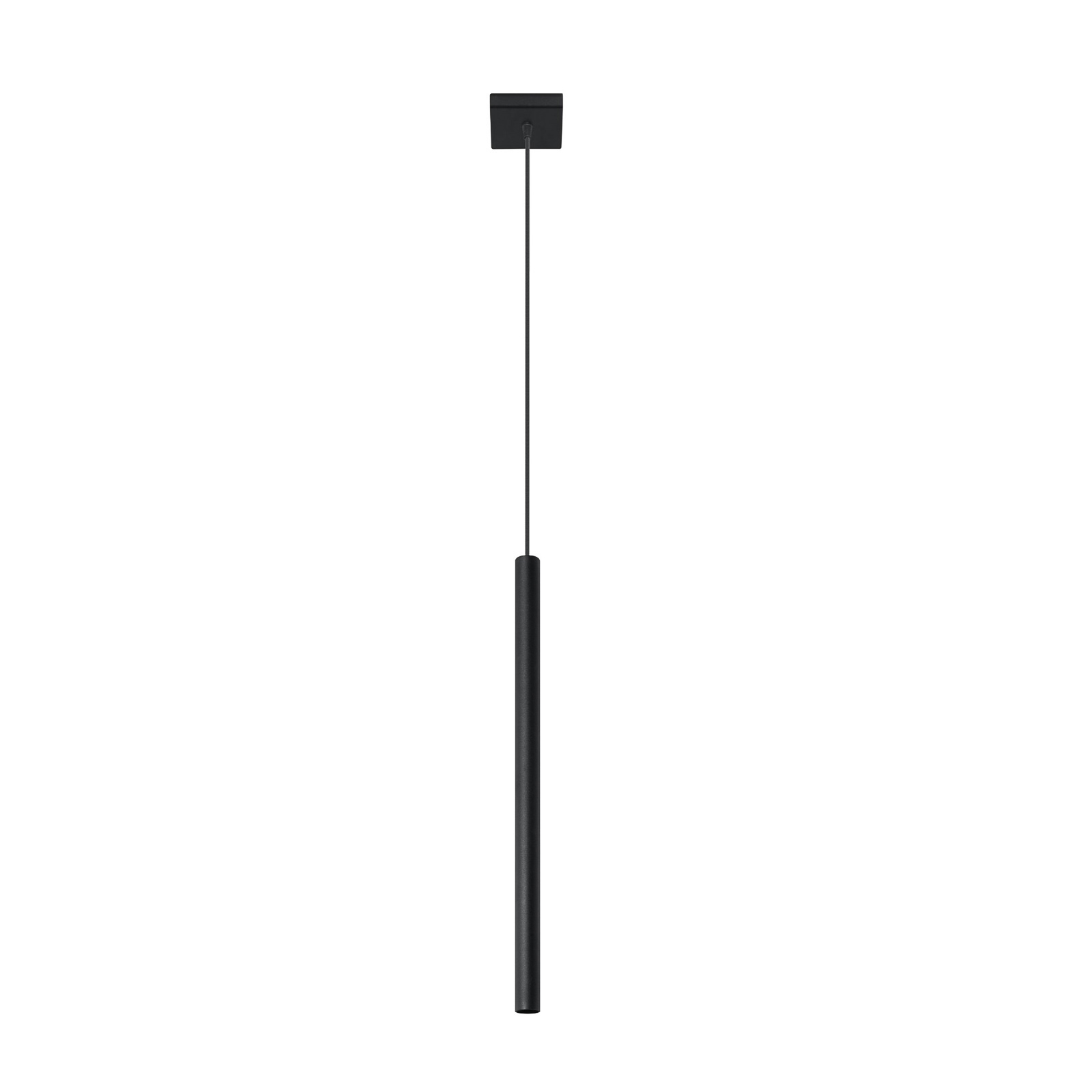 Lampa wisząca Thin, czarna, 1-punktowa