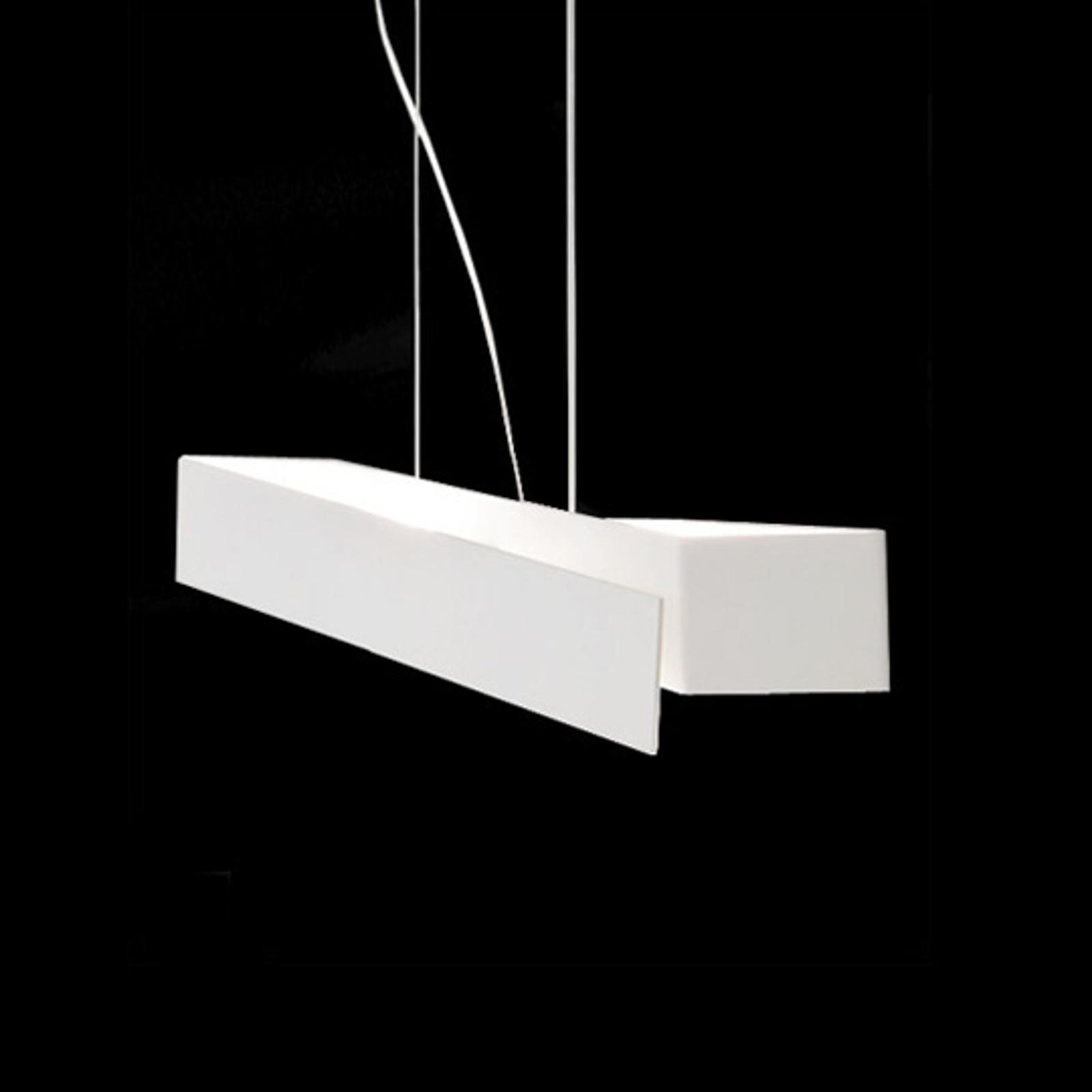 Ekstrawagancka lampa wisząca Zig Zag biała