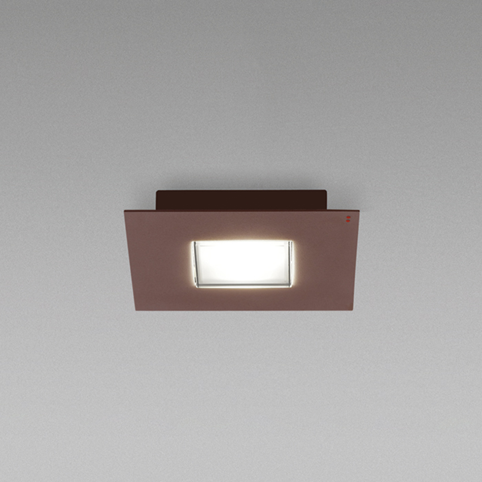 Quarter - a LED ceiling lamp with a brown rim_3503236_1