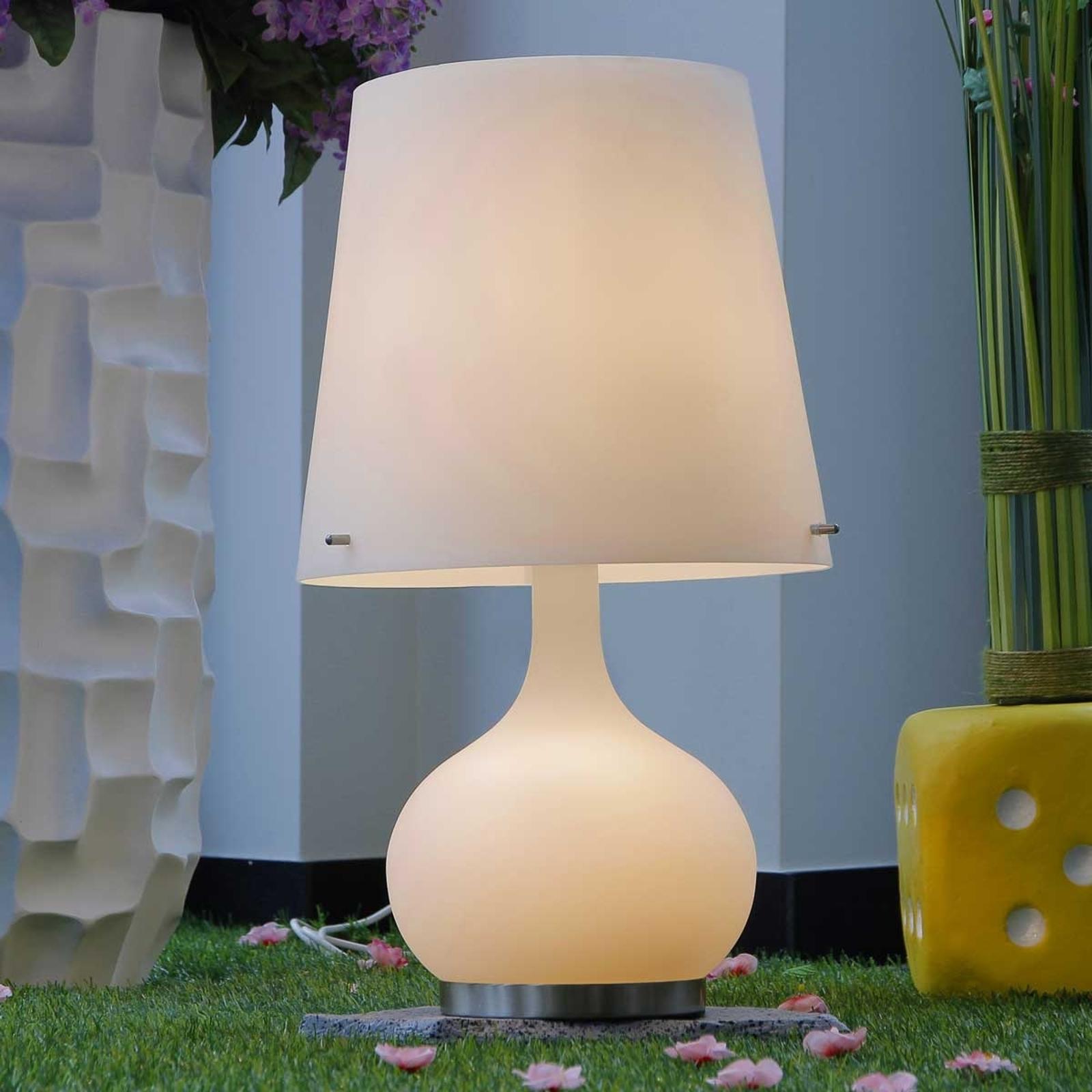 Lámpara de mesa Ade blanca 58 cm