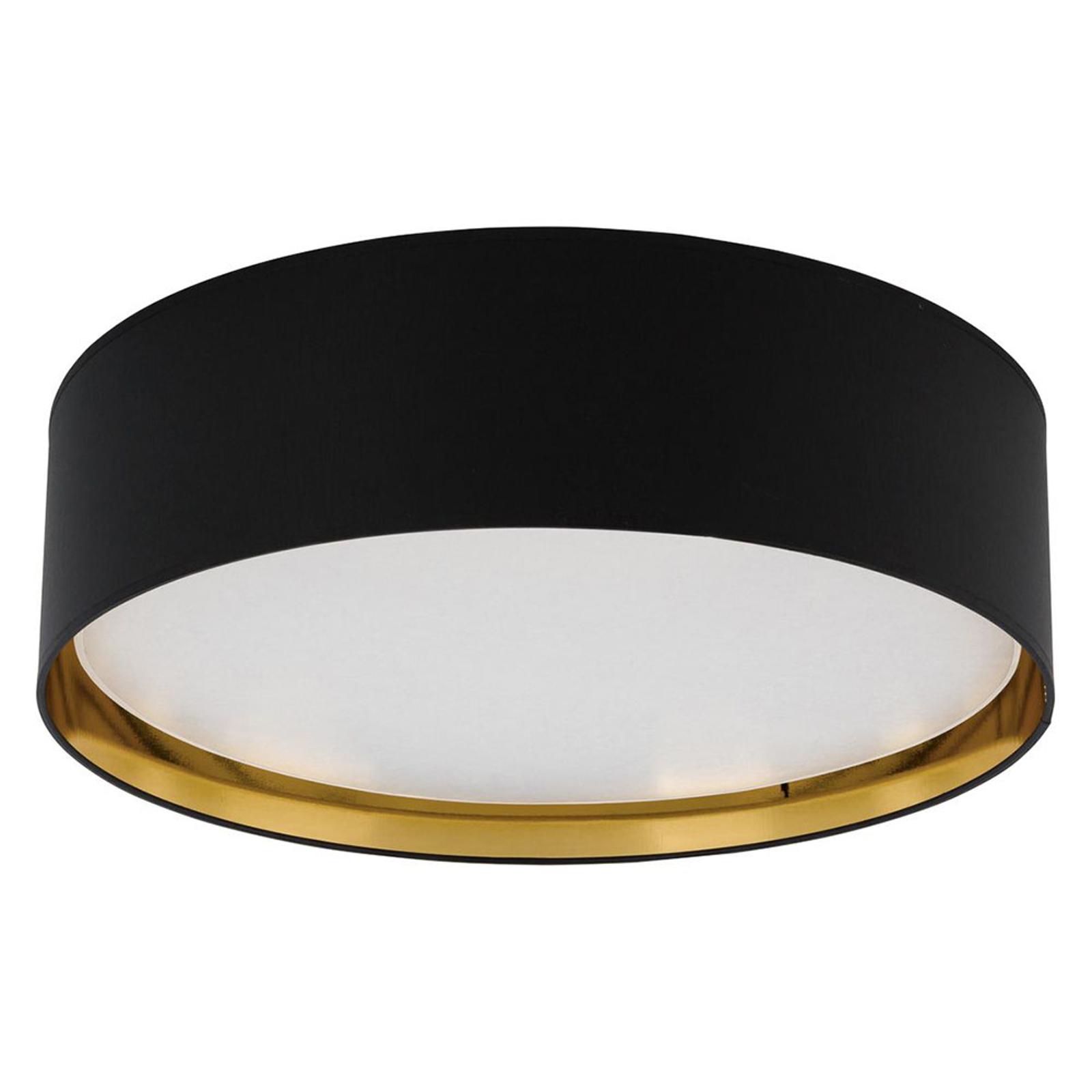 Plafondlamp Bilbao, Ø 60 cm, zwart/wit