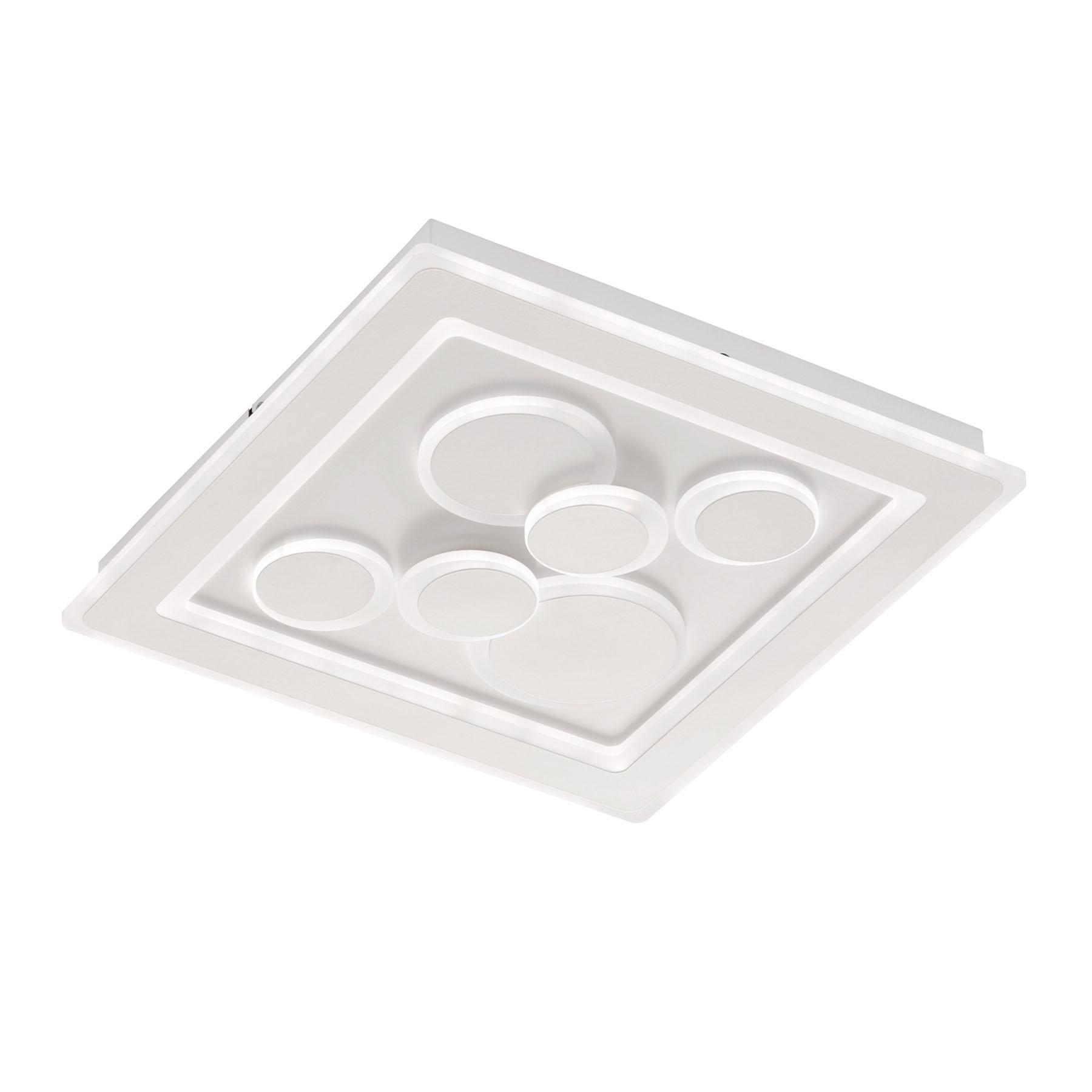 LED-Deckenleuchte Ratio, dimmbar, sechs Kreise