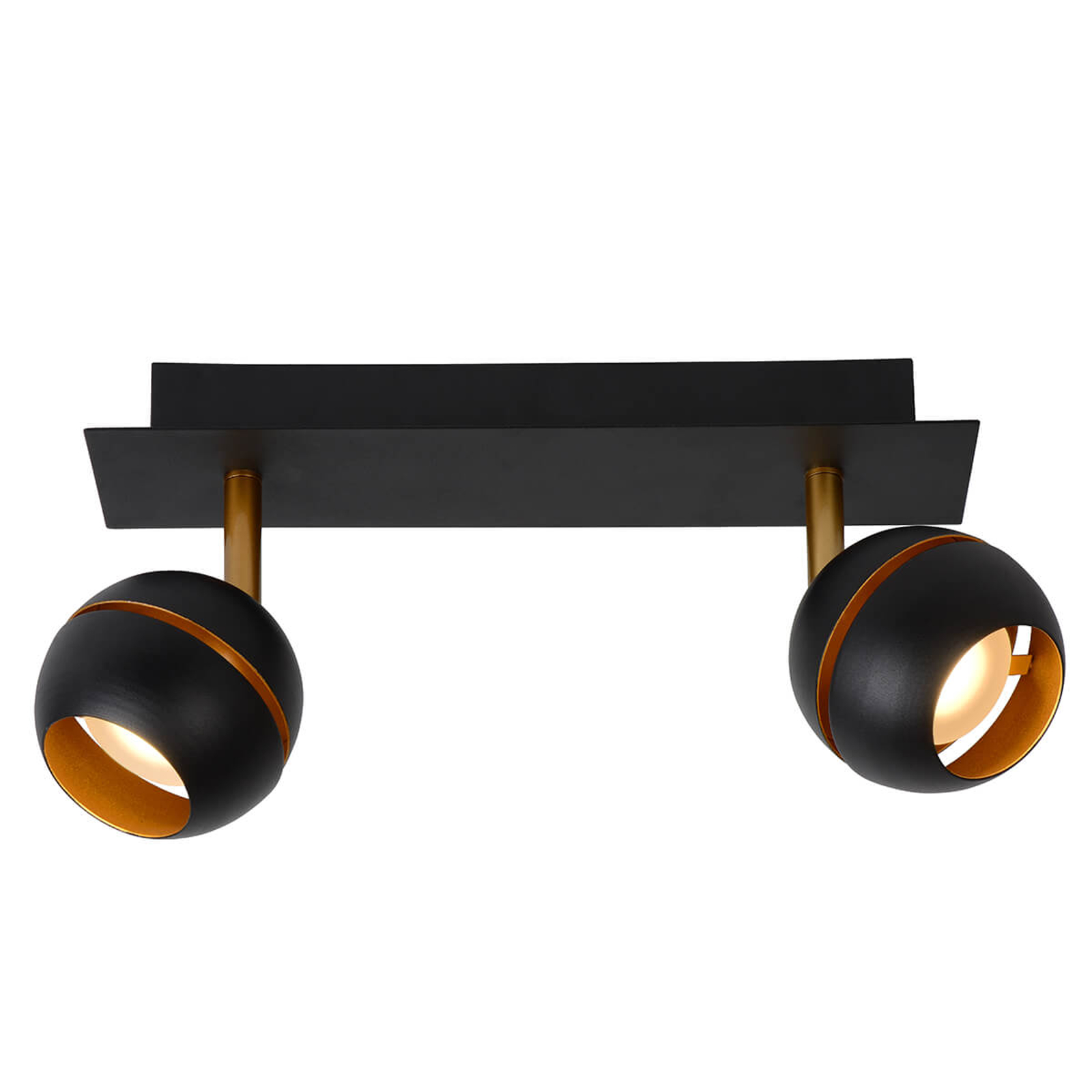 LED-Deckenleuchte Binari, zweiflammig, schwarz