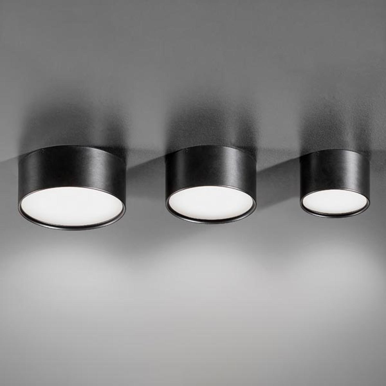 Plafonnier LED Mine noir, 12cm