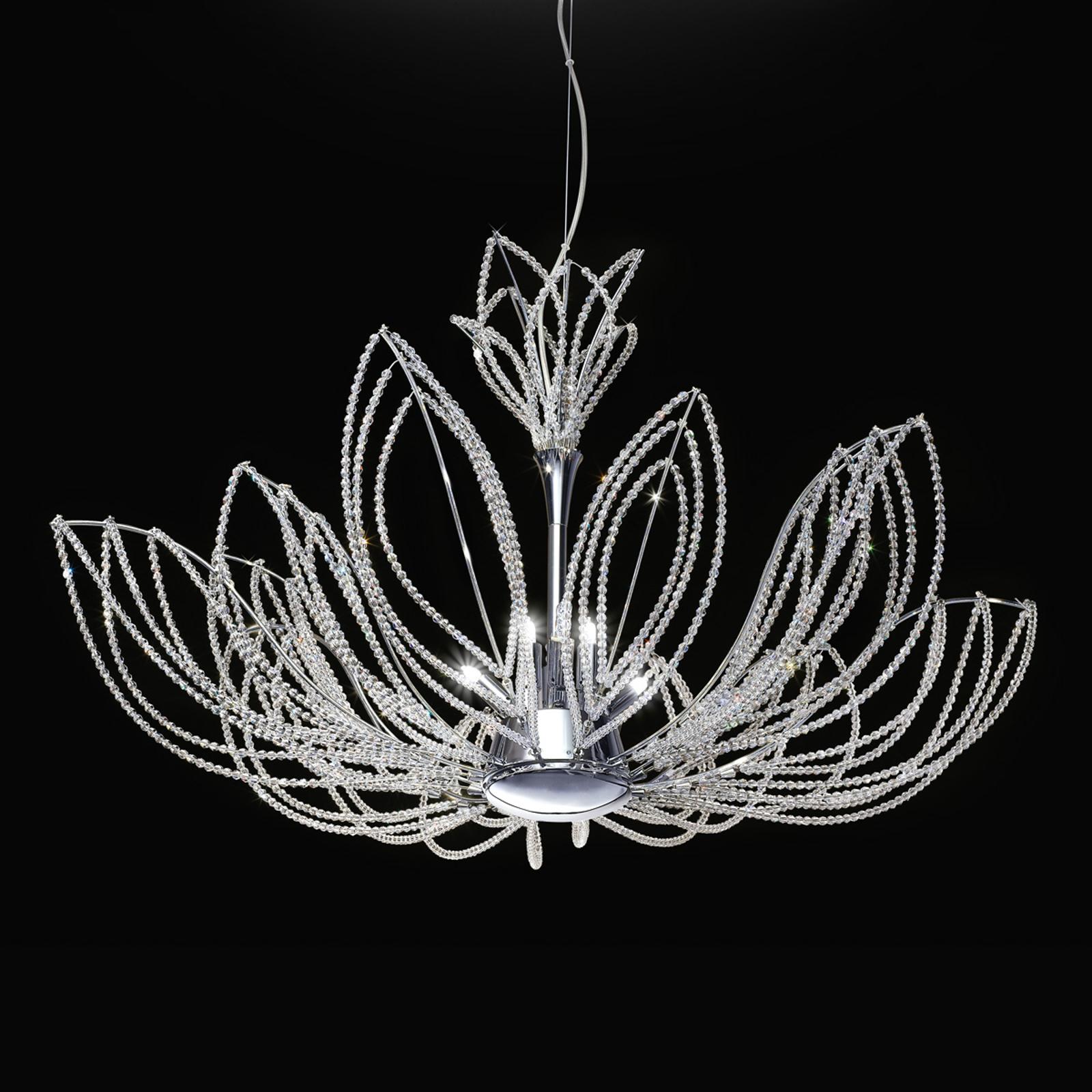 Opulente hanglamp Girasole in bloemvorm
