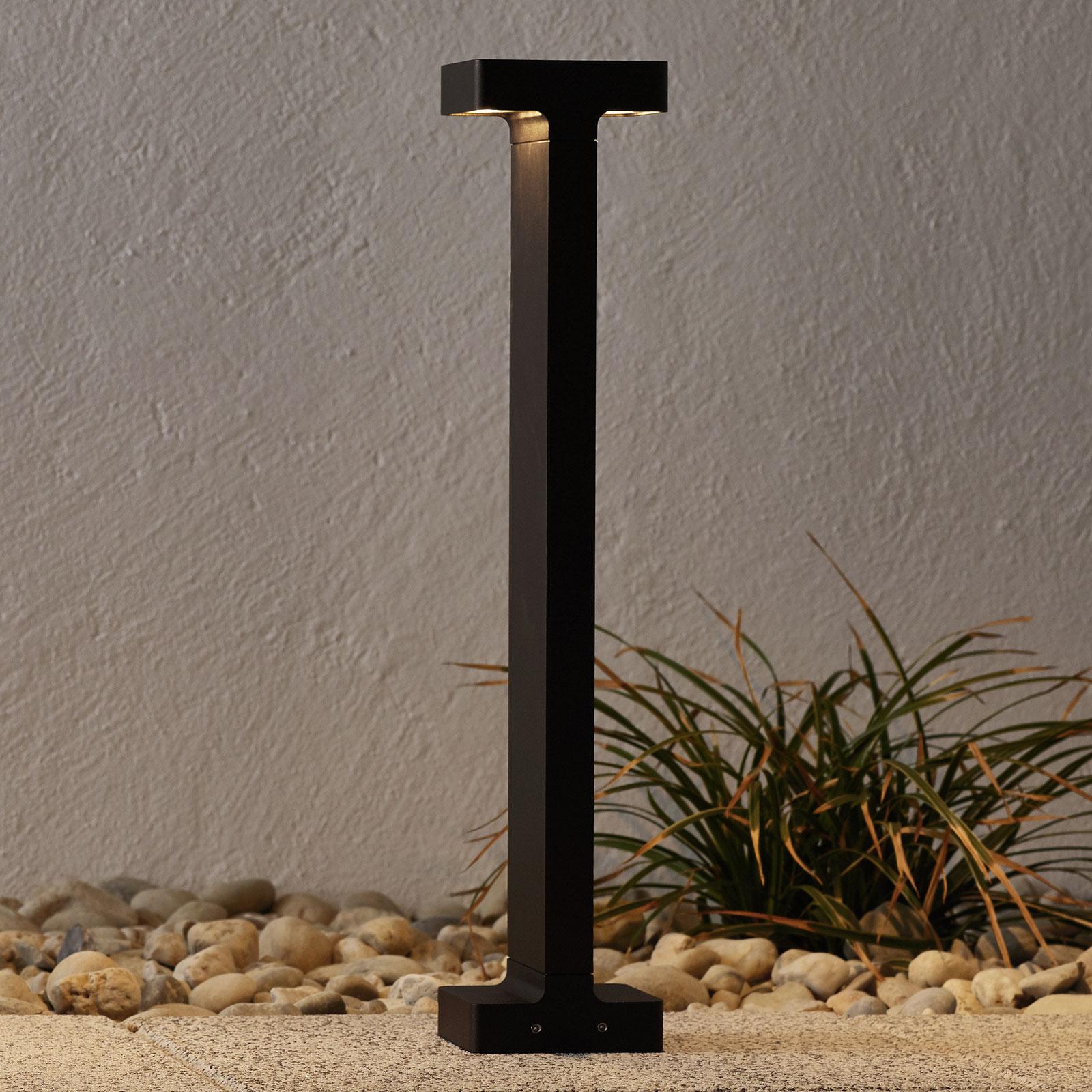 Mørkebrun utendørs LED vegglampe Casting T 100