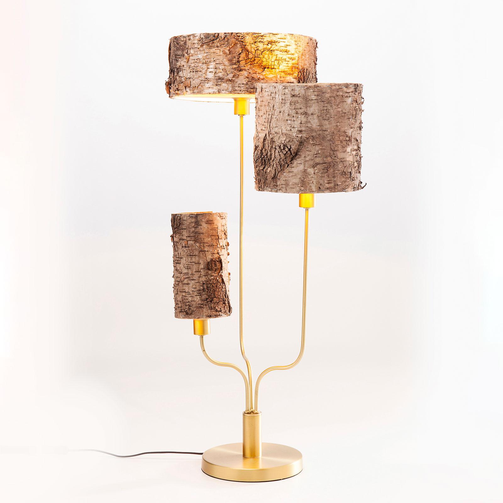 KARE Corteccia tafellamp met berkenschors