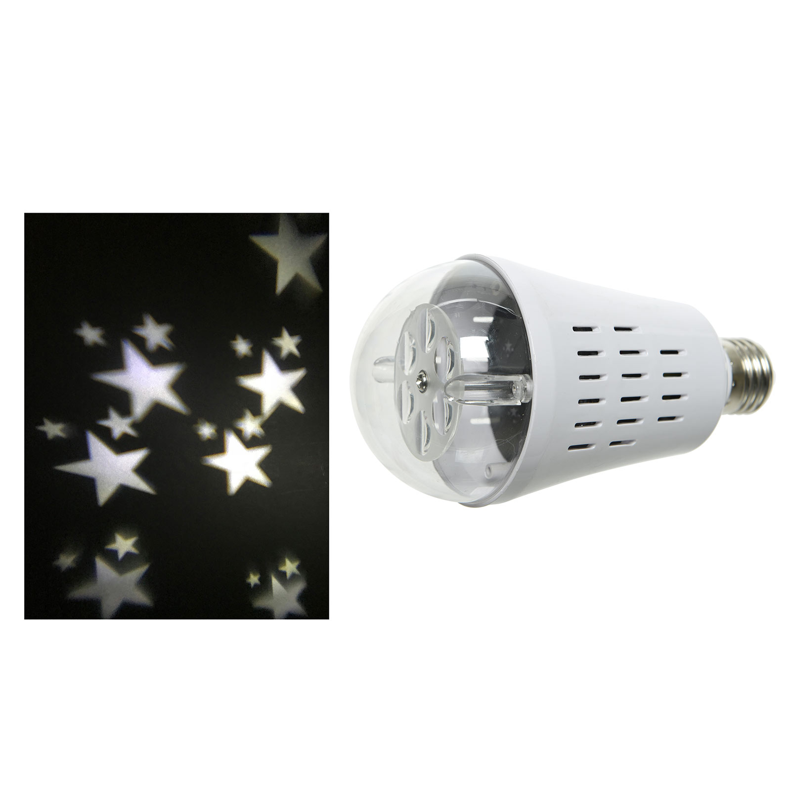 LED E27-stjerneprojektorpære
