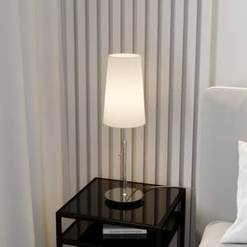 Lucande Pordis bordlampe, krom-hvid