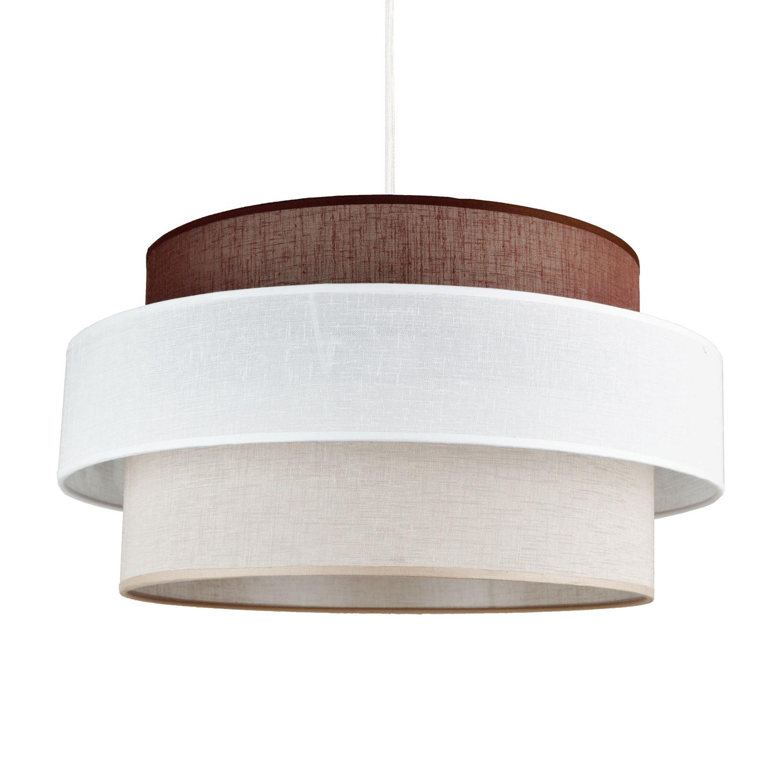 Hanglamp Space, wit/beige/bruin