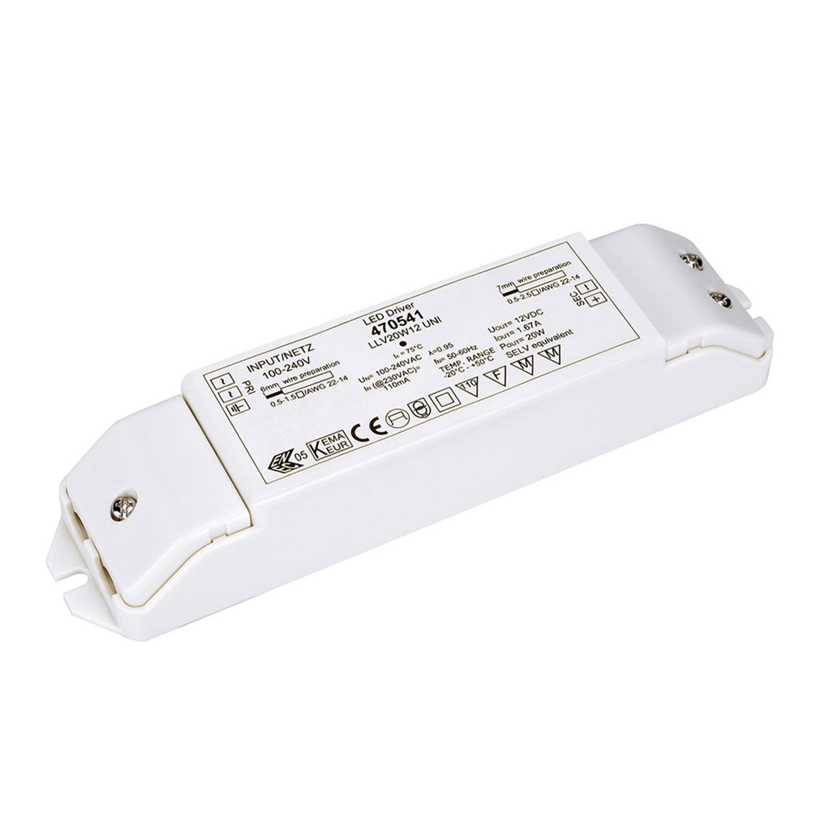 SLV LED-strømforsyning 12 V DC / 20 W