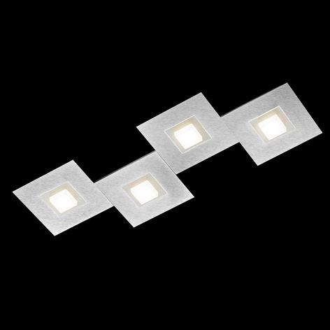 GROSSMANN Karree lámpara LED techo 4 luces 80x30