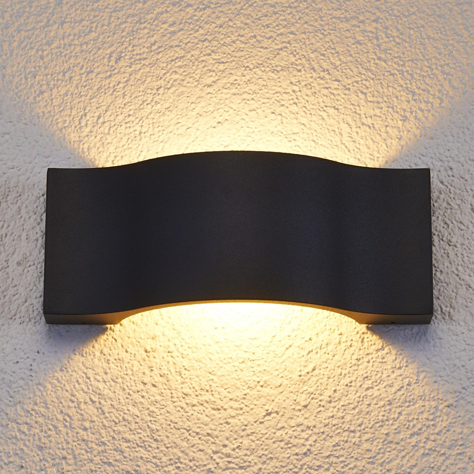 Elegant LED udendørs væglampe Jace grafit