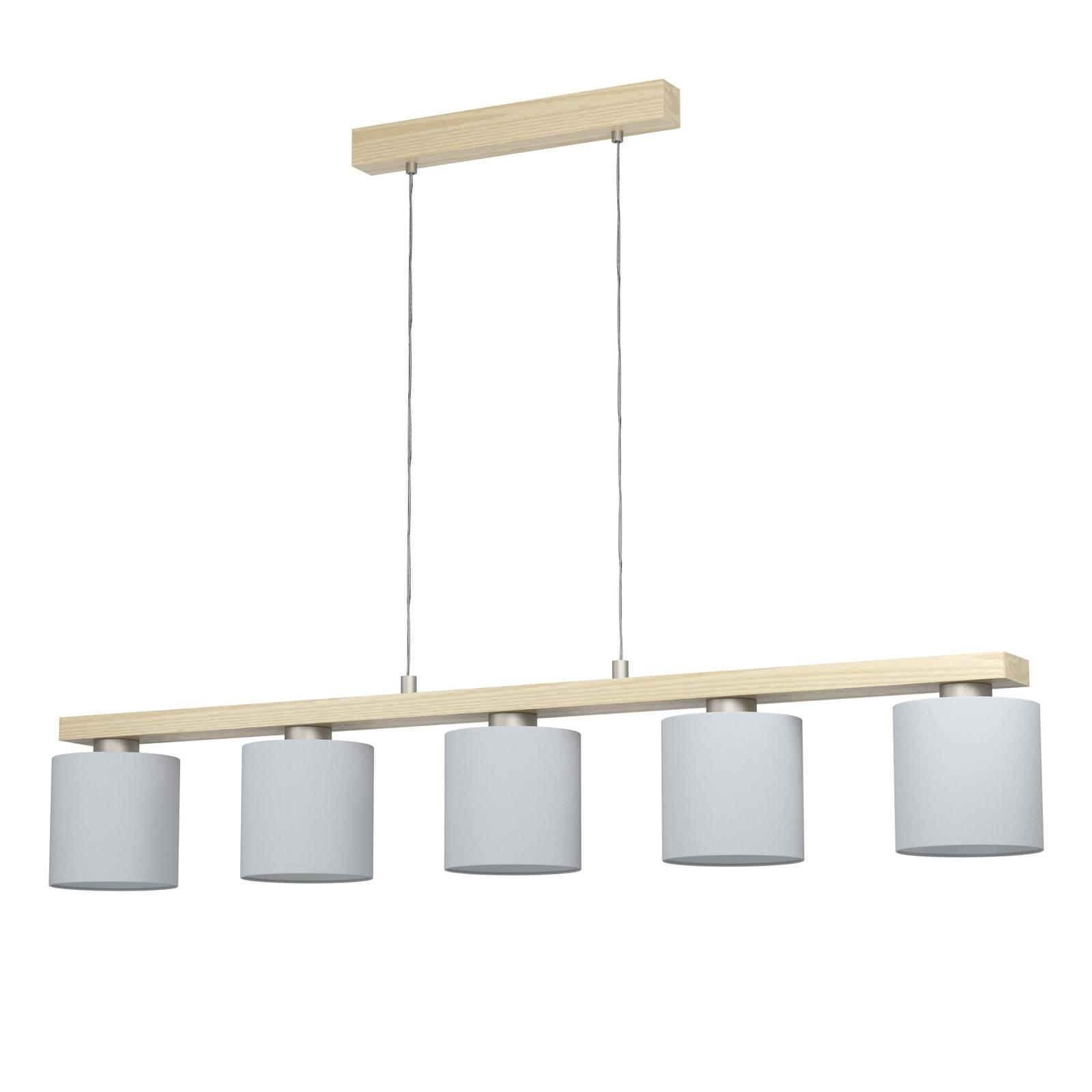 Lampa wisząca Castralvo z pięcioma kloszami