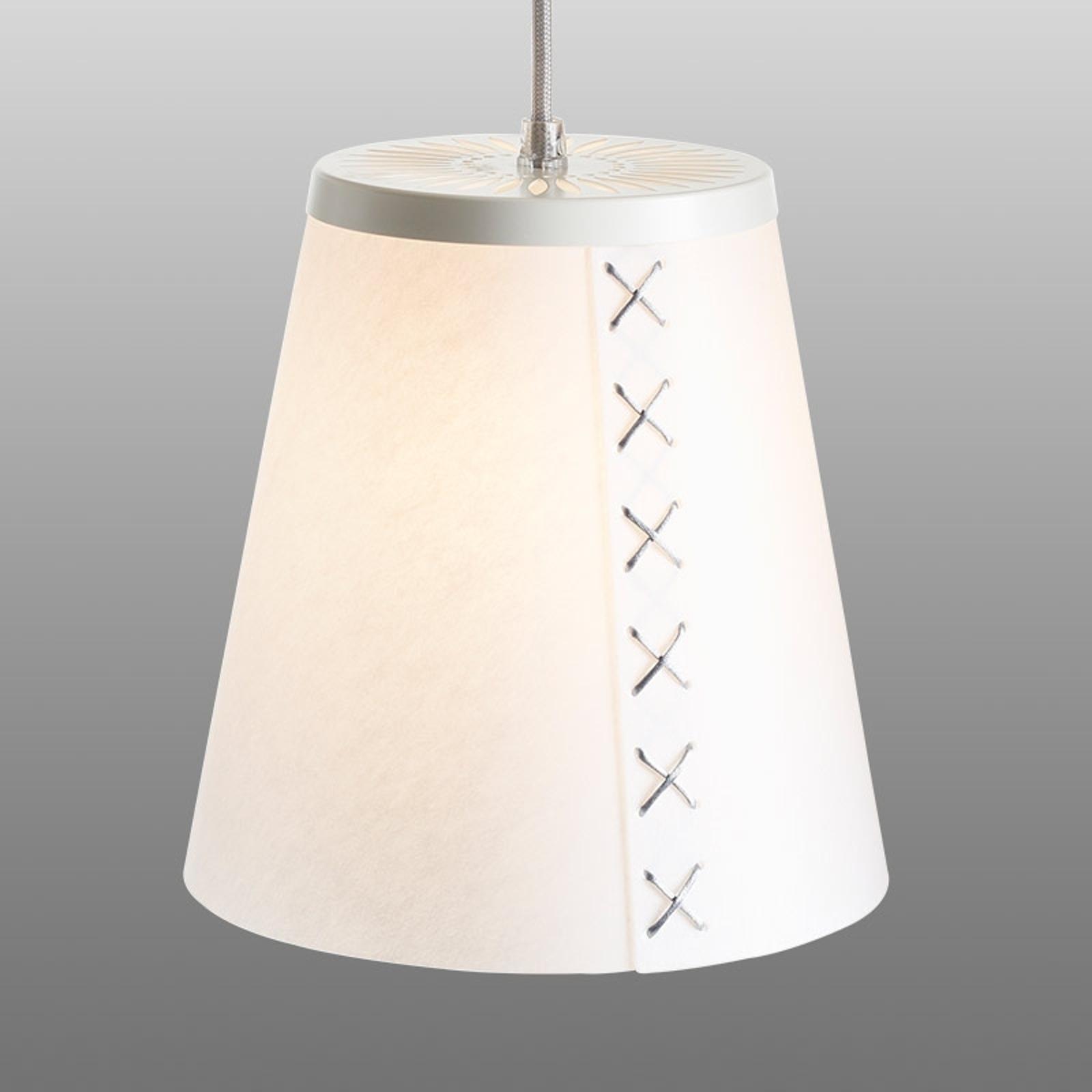 FLÖR - lampa wisząca z Lunopalu, srebrny kabel