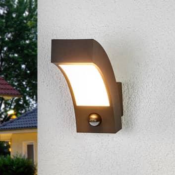 LED-utomhusvägglampa Lennik med rörelsedetektor