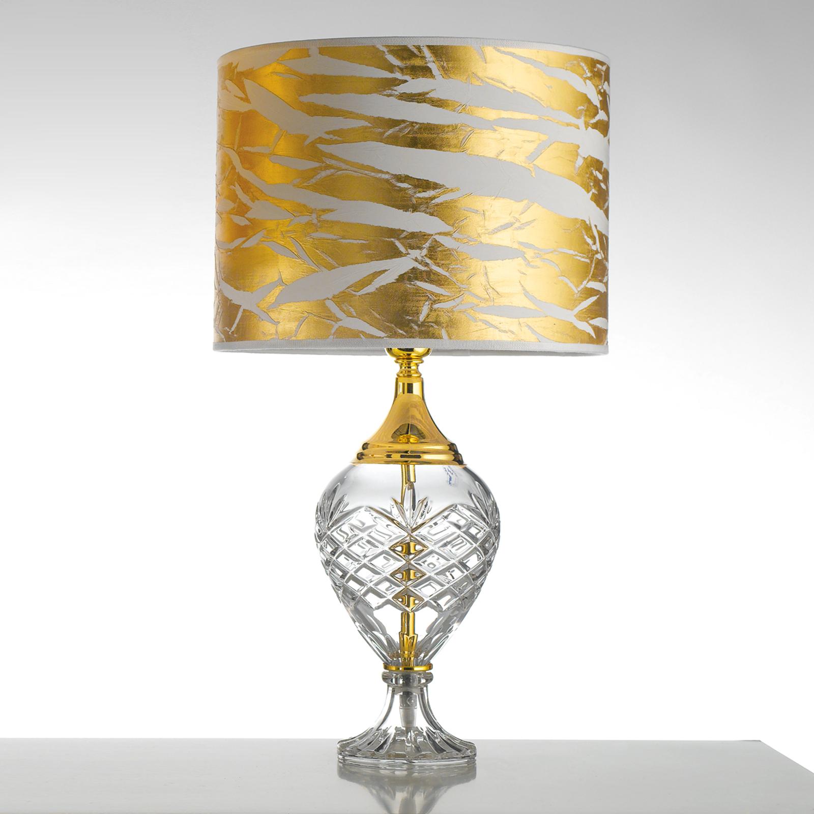 Lampa stołowa Belle Epoque, 59 cm złota