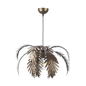 Lámpara colgante Dubai en aspecto de hojas, bronce