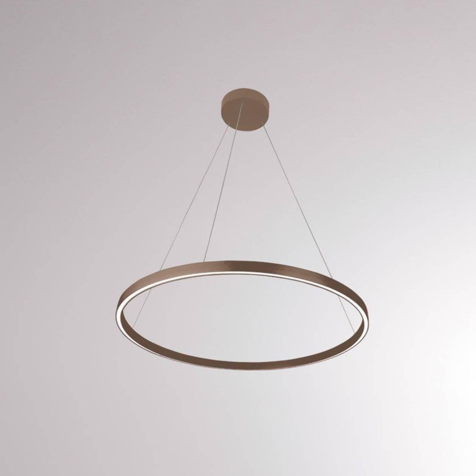 LOUM Perfora M suspension LED Ø 60 cm terre