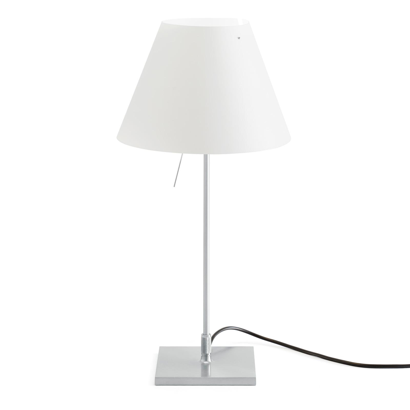 Luceplan Costanzina LED-bordslampa aluminium vit