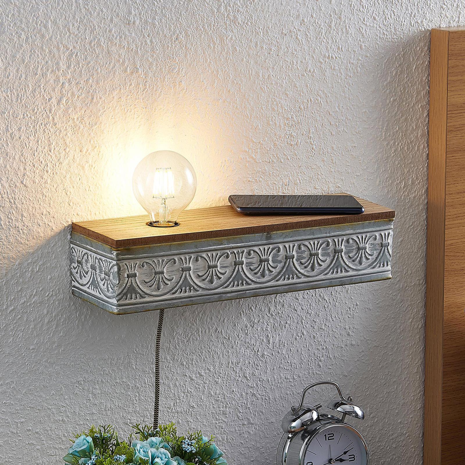 Lindby Mella nástěnné světlo s vintage charakterem