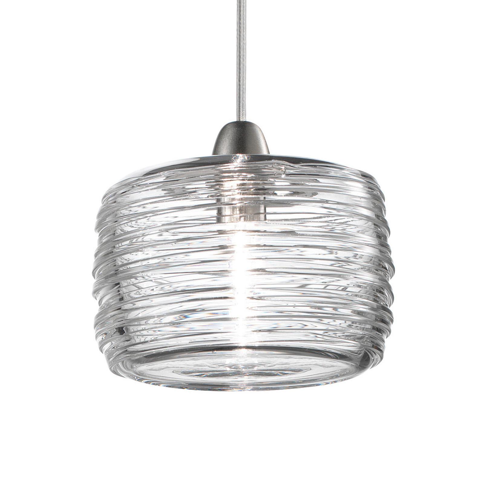 LED-Pendellampe Damasco klar Ø 12 cm