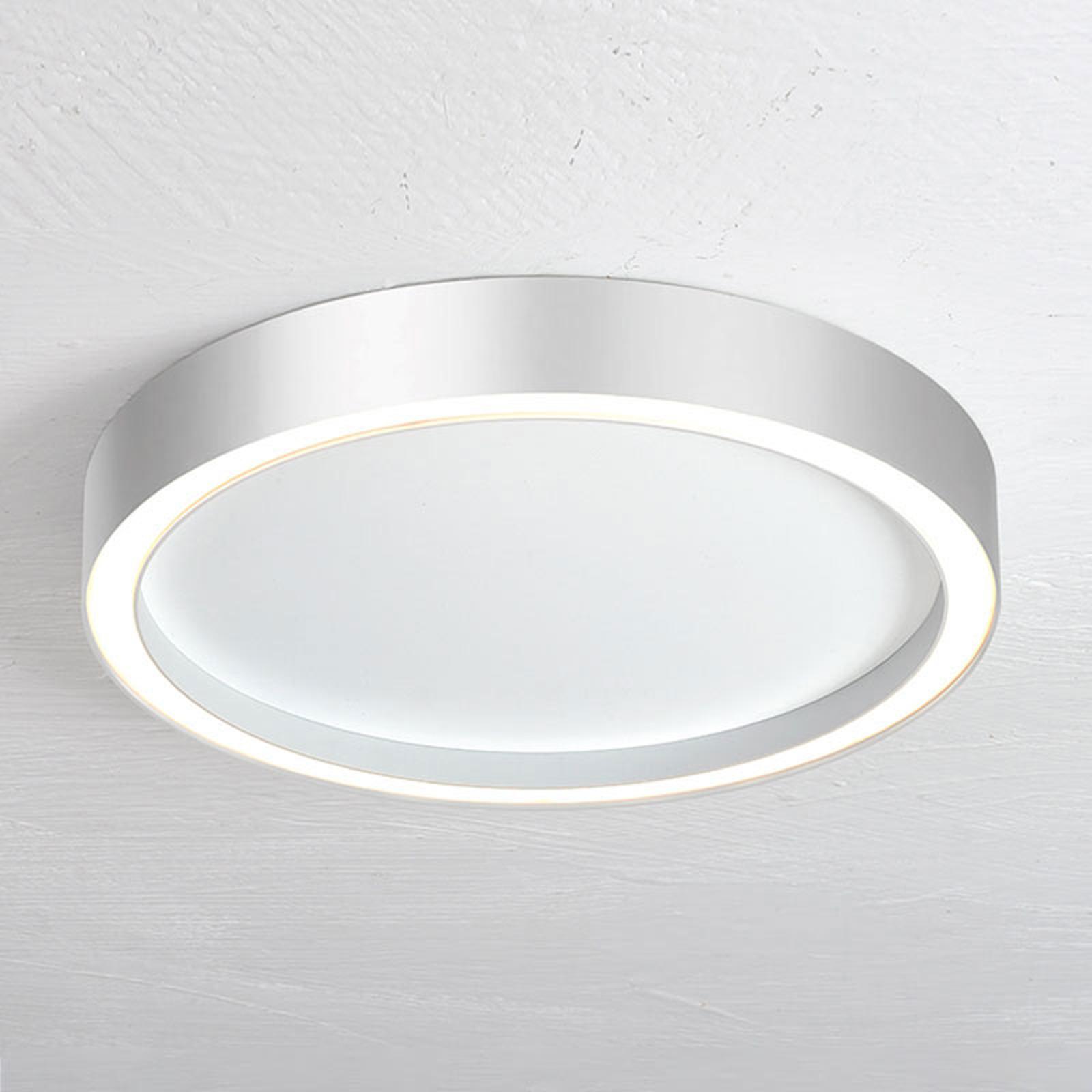 Bopp Aura LED-loftlampe, Ø 40 cm, hvid, aluminium