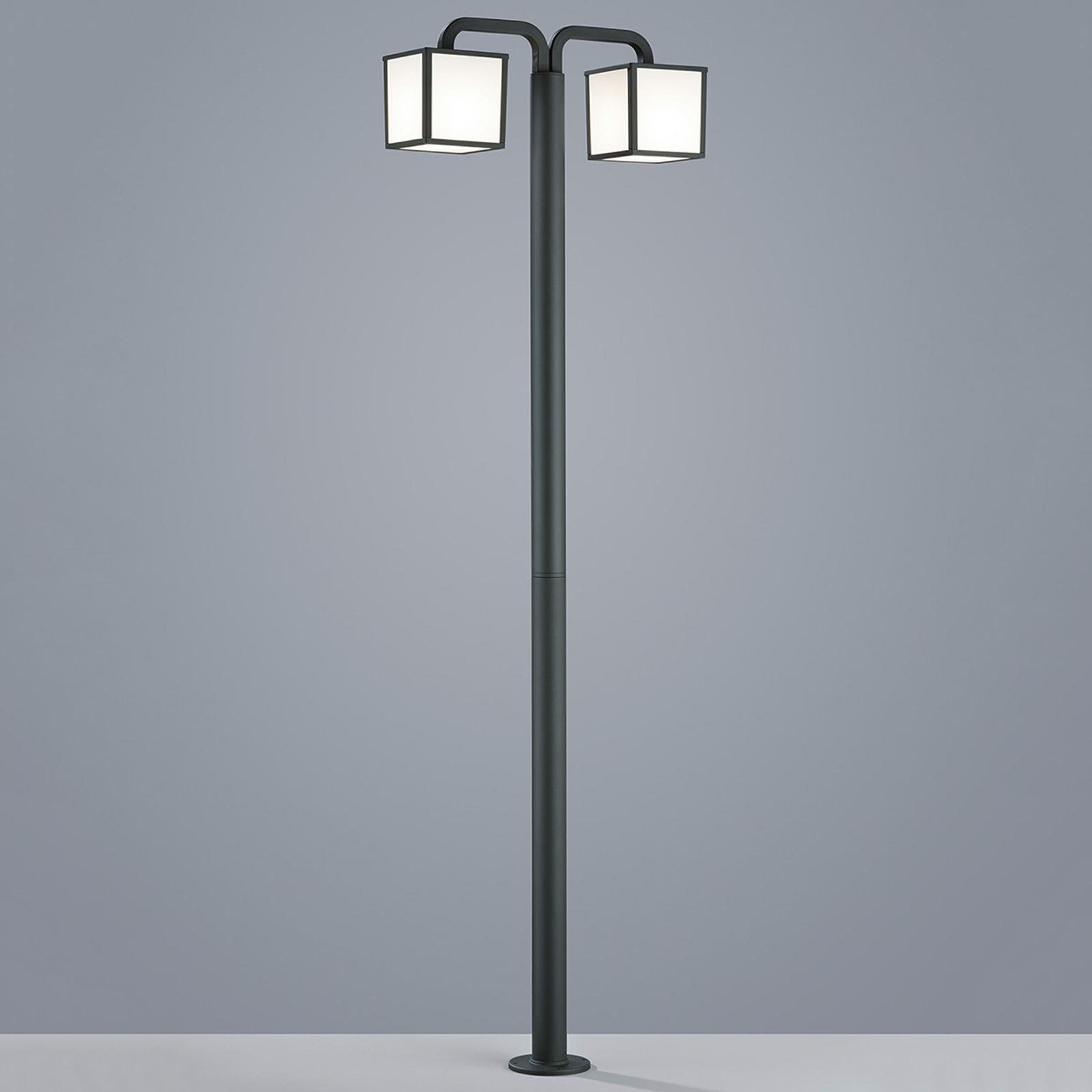 Lampadaire LED Cubango avec 2 lanternes