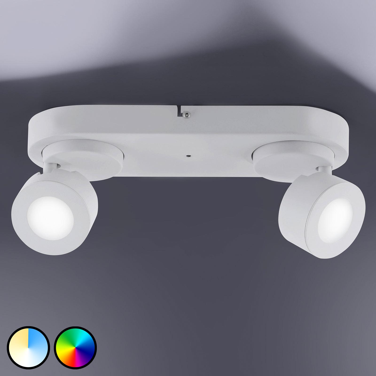 Trio WiZ Sancho LED-spot, 2 lyskilder, hvit