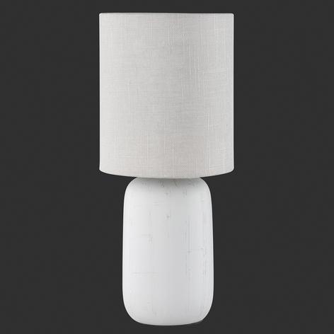 Stolní lampa Clay barvy Cappuccino s textilem