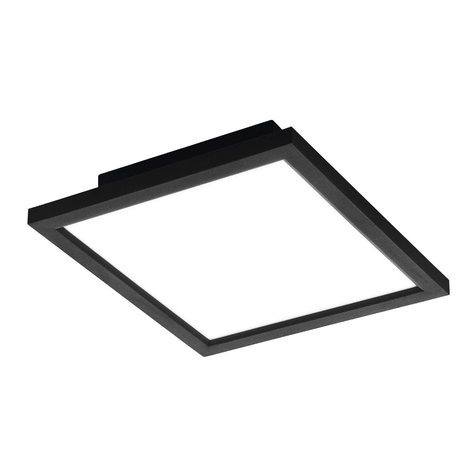 EGLO connect Salobrena-C LED-Panel eckig schwarz
