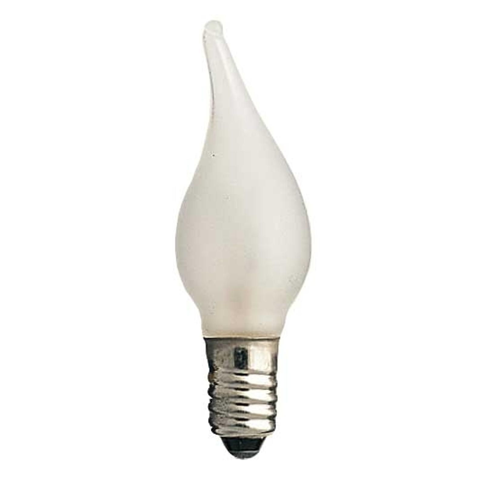 E10 3W 24V Reservlampor 3-pack, stearinljusliknand