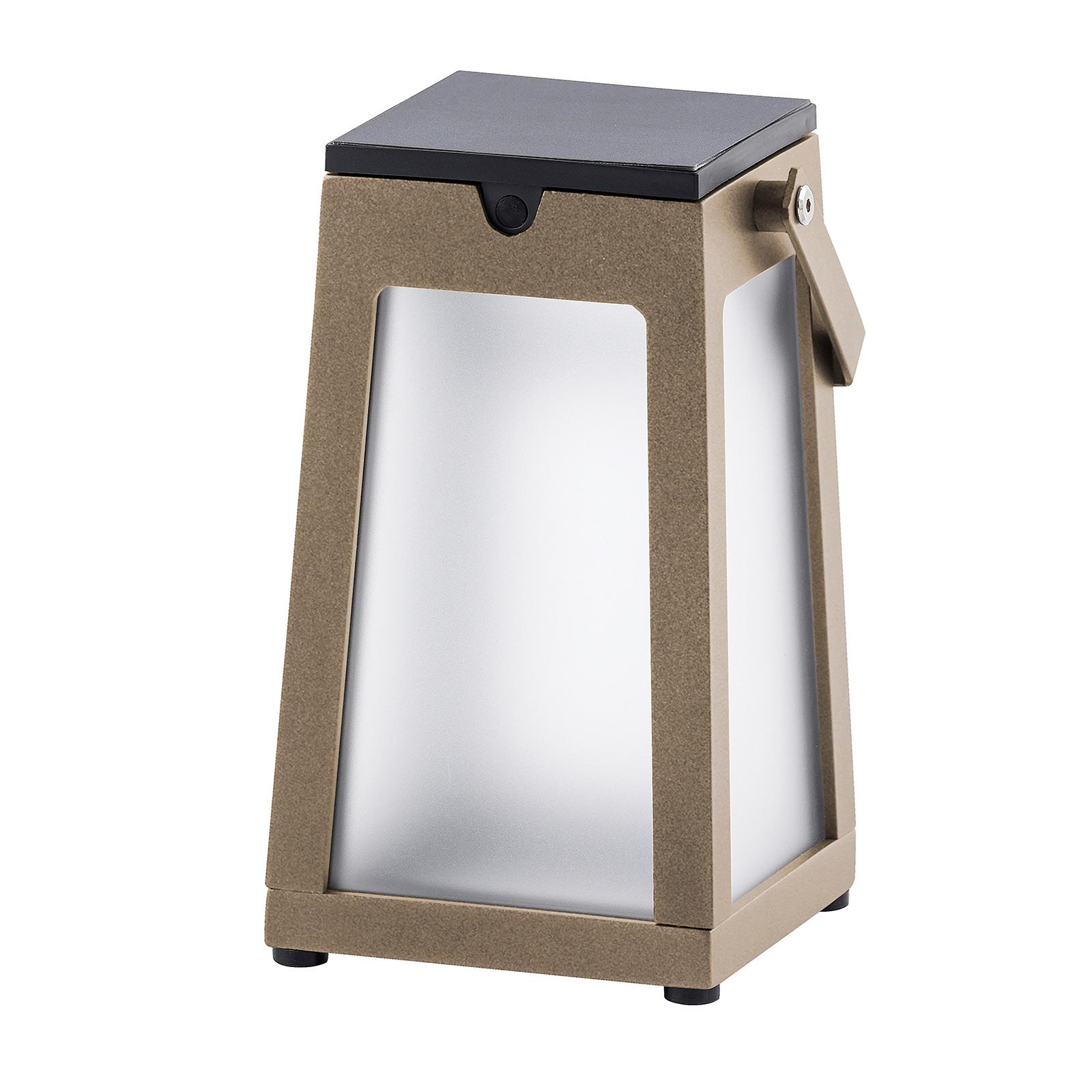 LED-Solarlaterne Tinka tragbar, muskat