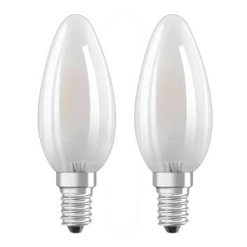 OSRAM ampoule flamme LED E14 4W blanc chaud lot 2