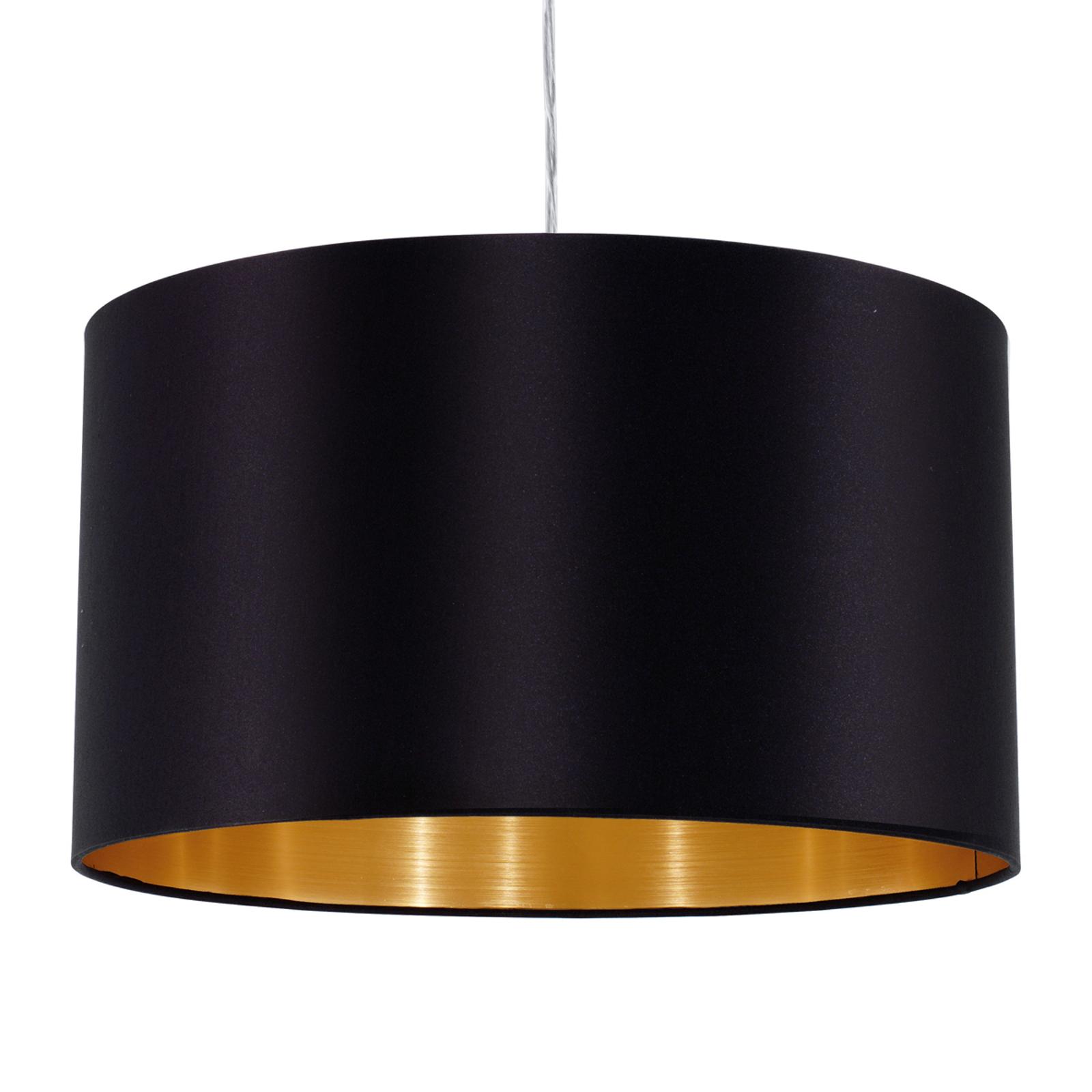 Textil Hängeleuchte Lecio, 38 cm, schwarz