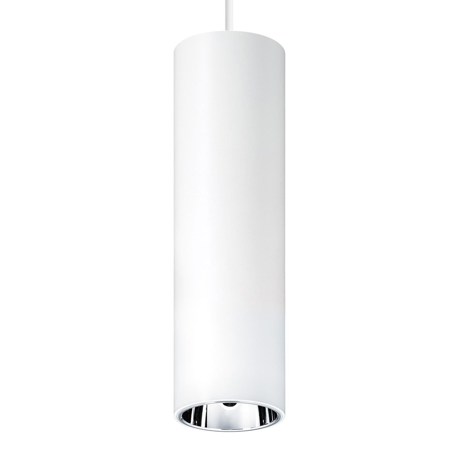 Zumtobel Panos LED-Hängeleuchte Ø 7cm weiß/alu