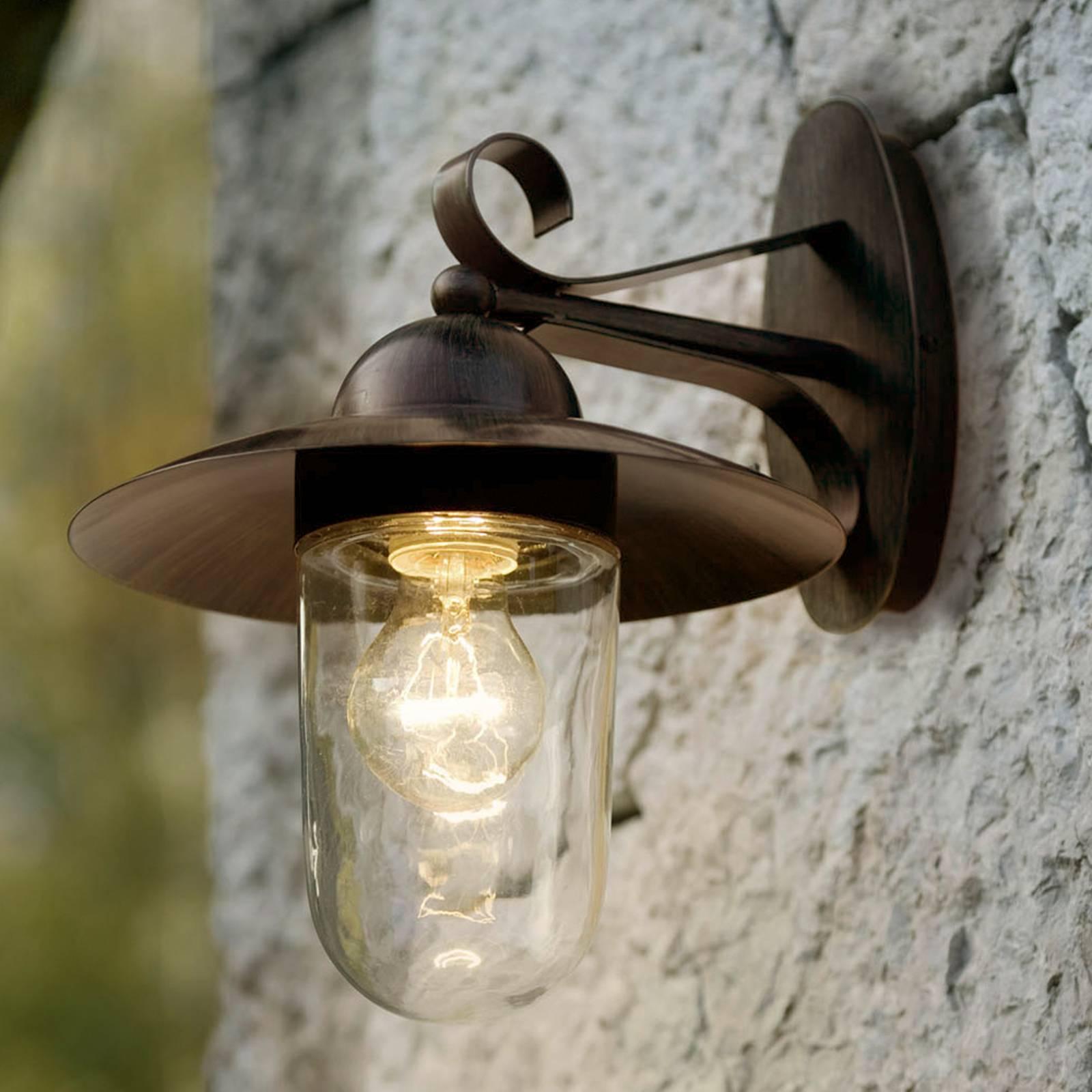 Buitenwandlamp MILTON I  antiekbruin