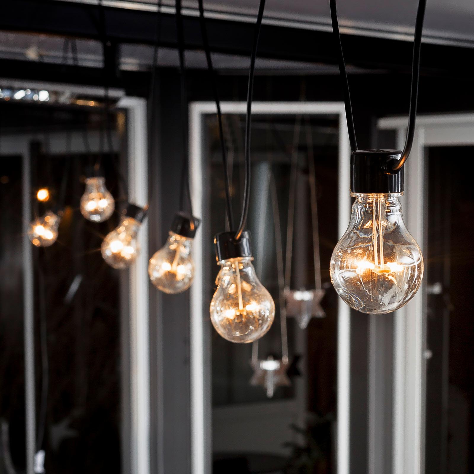 LED-Lichterkette Biergarten Basis-Set, bernstein