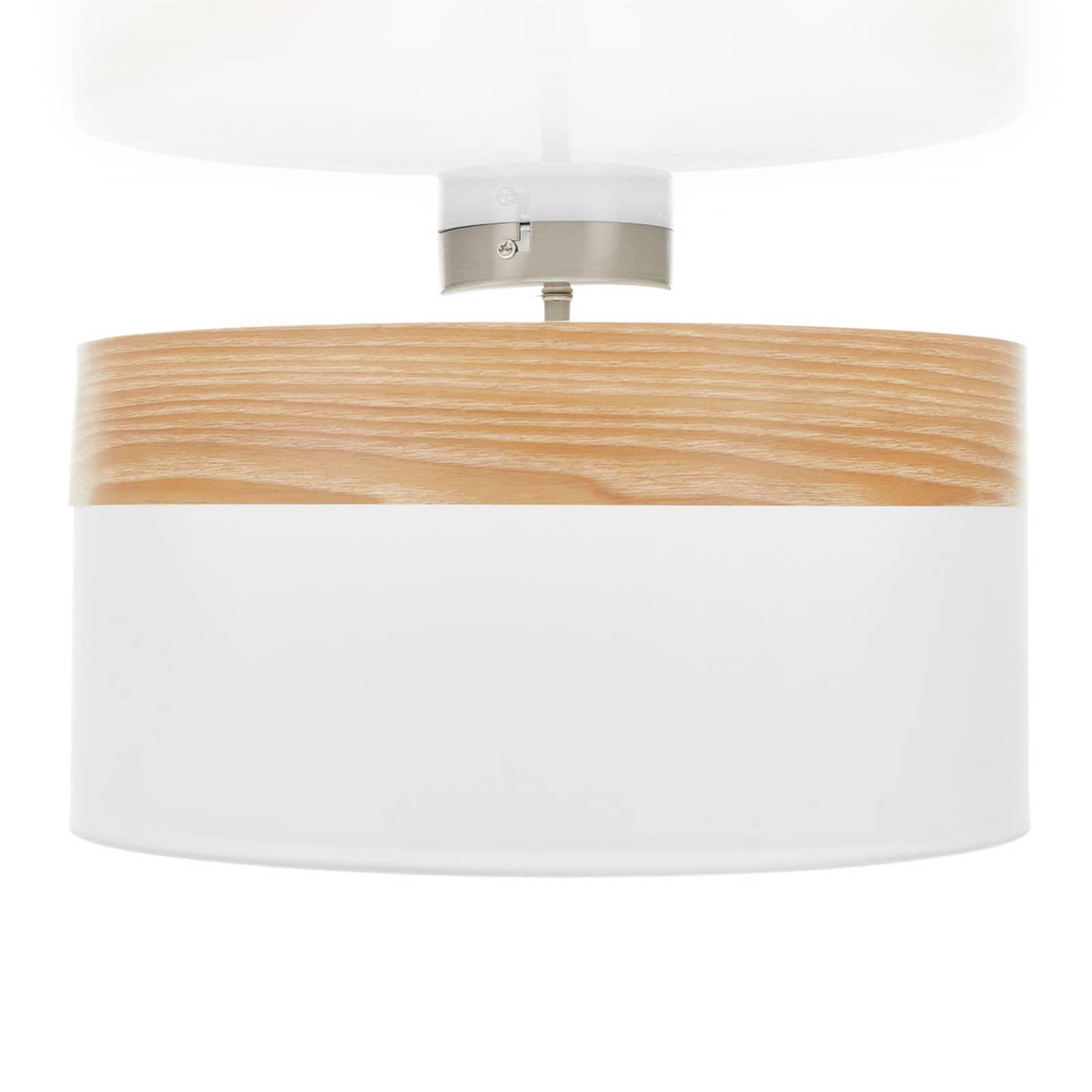 Lampa sufitowa Libba kremowa-drewno