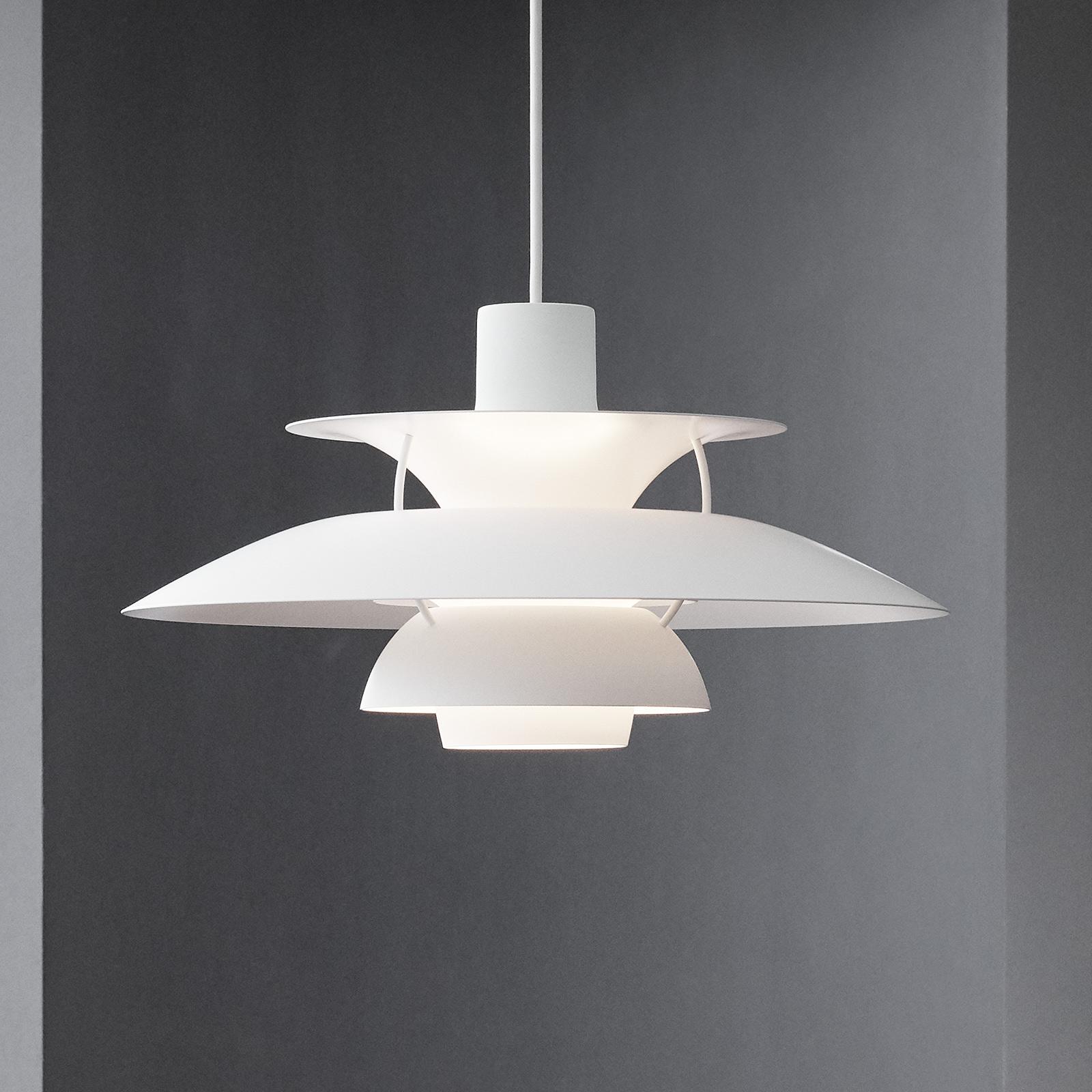 Louis Poulsen PH 5 Mini hanglamp monochroom wit