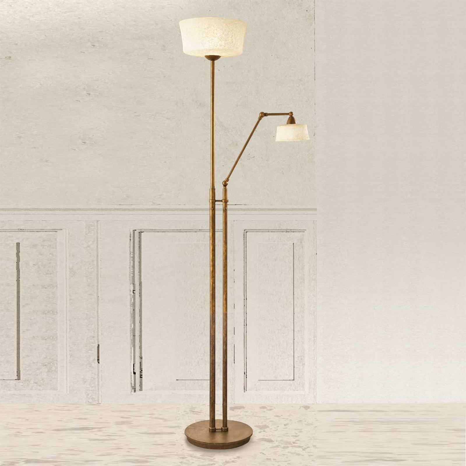Vloerlamp Alessio met leesarm