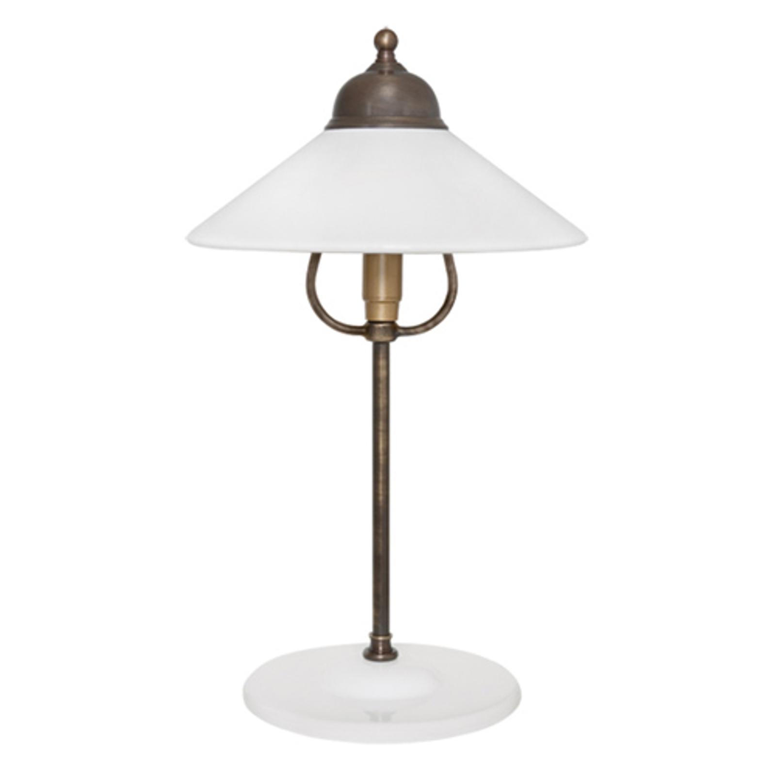 Atrakcyjna lampa stołowa Ike