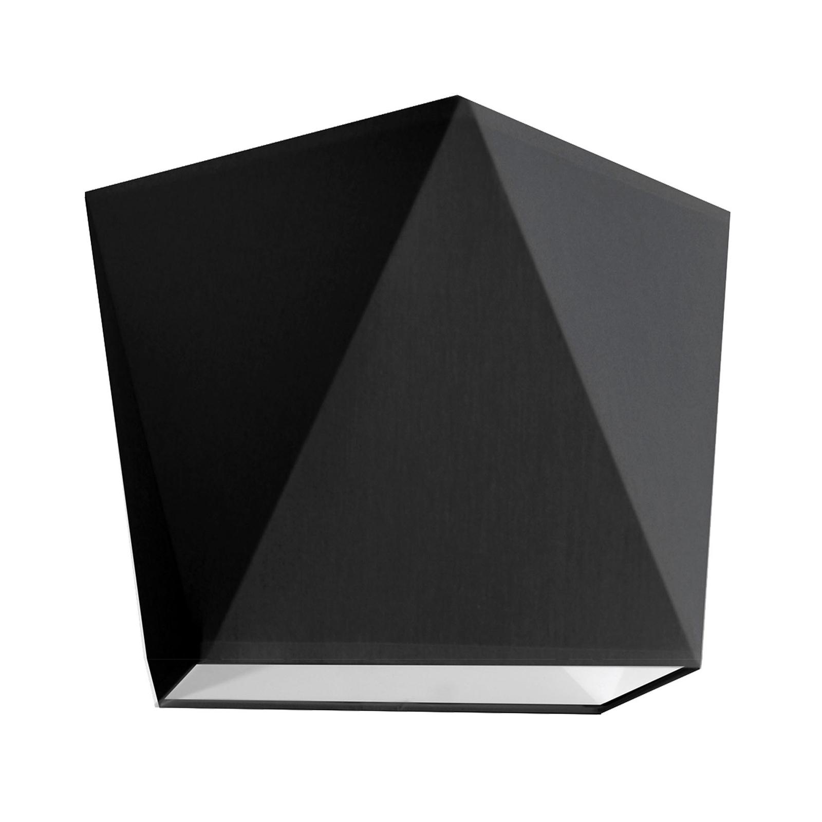 Lampenschirm Karo, E27, 16 x 16 cm, schwarz