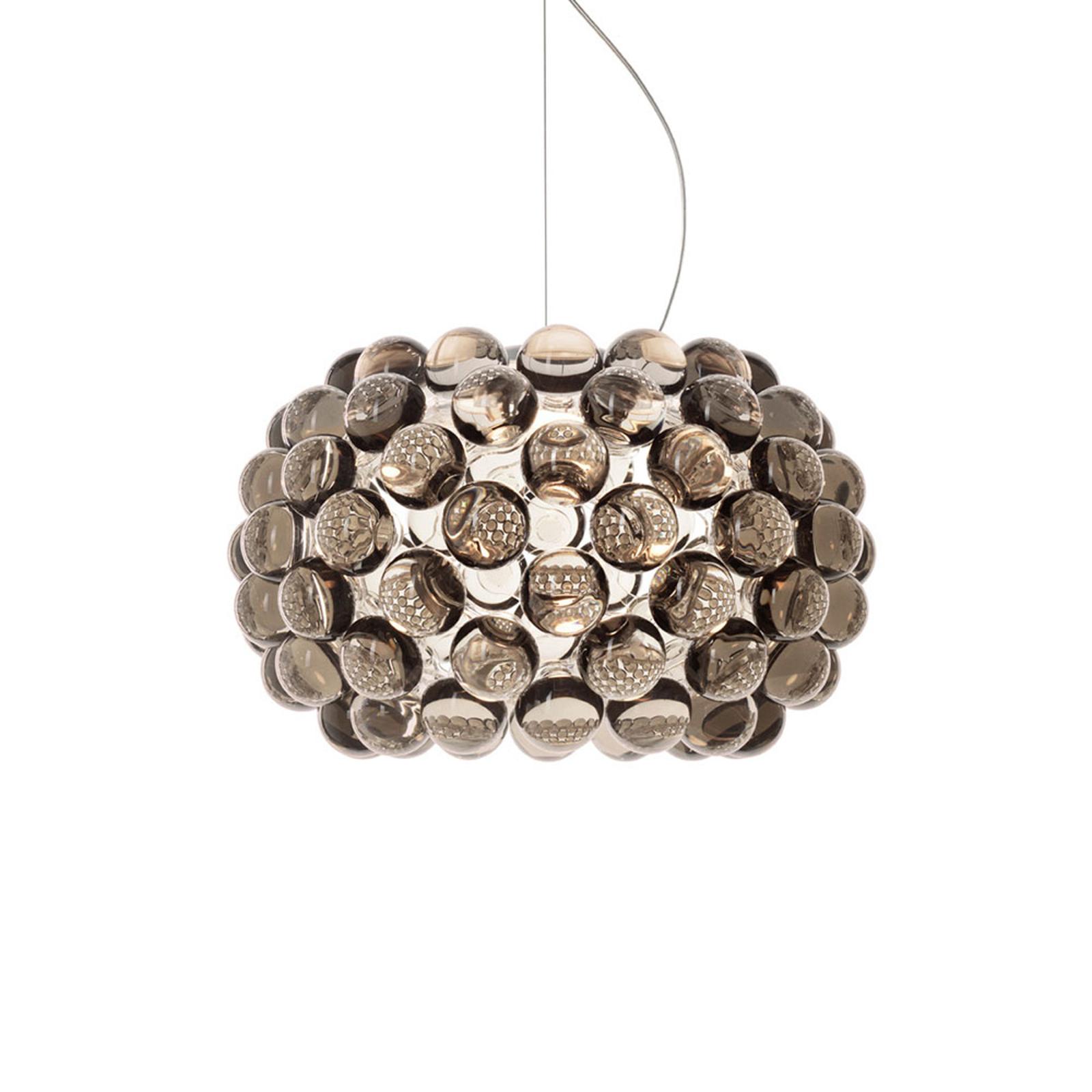 Foscarini Caboche Plus piccola LED-Hängelampe grau