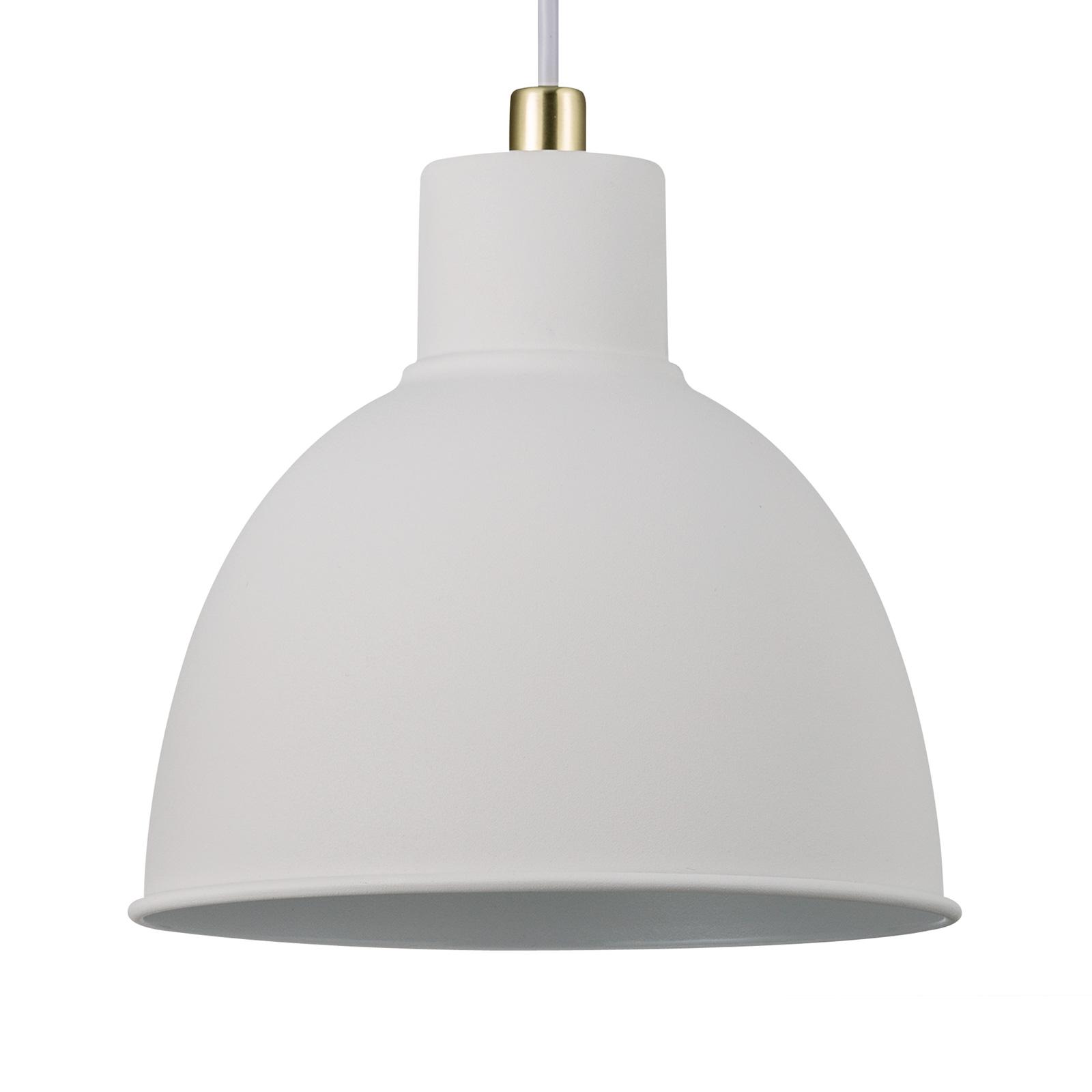 Lampa wisząca Pop Rough z metalu, biała
