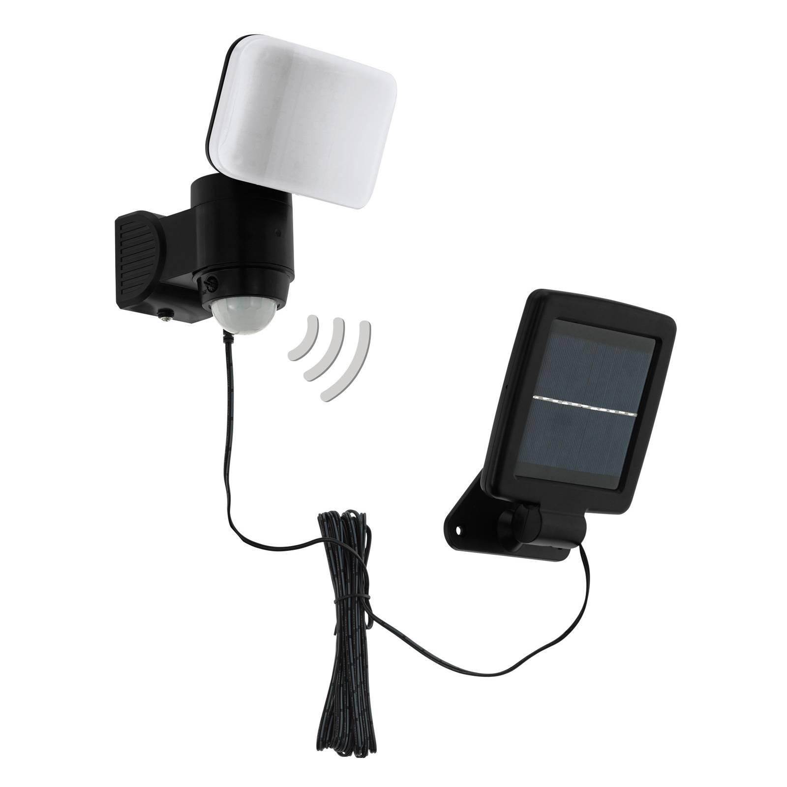 Lampa solarna LED Casabas z czujnikiem, czarna