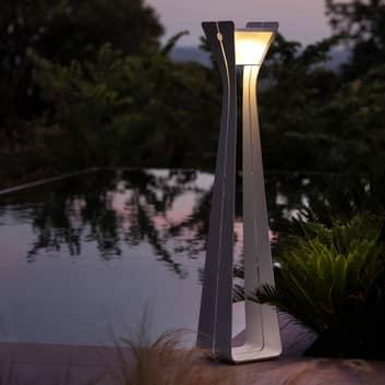 Osmoz LED-solcellelampe av aluminium, 175 cm