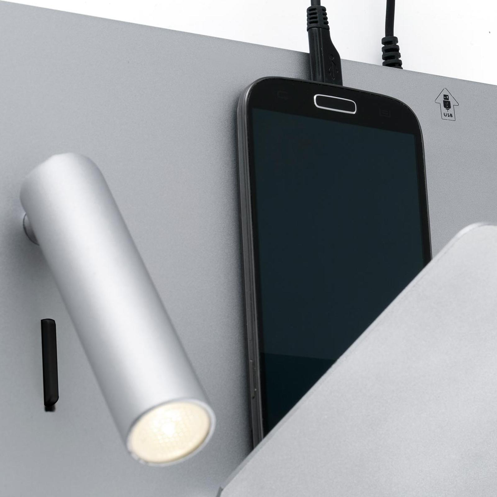 Applique LED Suau compacte avec chargeur USB